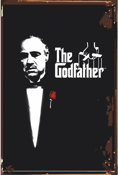 Hayat Poster The Godfather Baba Sinema Retro Vintage Ahşap Poster