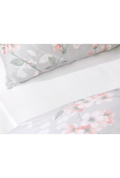 English Home Sakura Zen Pamuk Tek Kişilik Nevresim Takımı 160 x 220 cm Gri