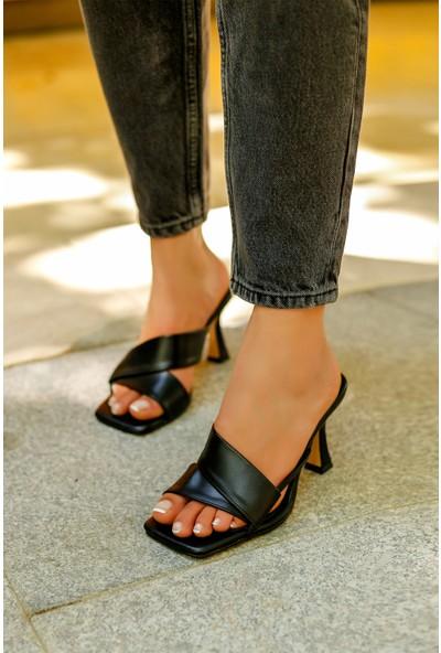 My Poppi Shoes Siyah Kadın Terlik Diana