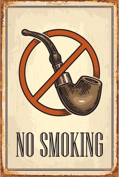 Hayat Poster No Smoking Retro Vintage Ahşap Poster