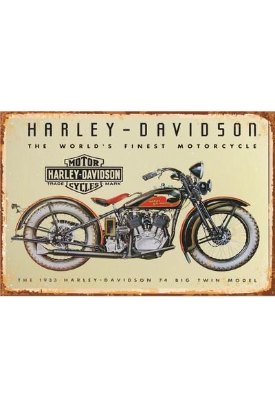 Hayat Poster Harley Davidson Retro Vintage Ahşap Poster