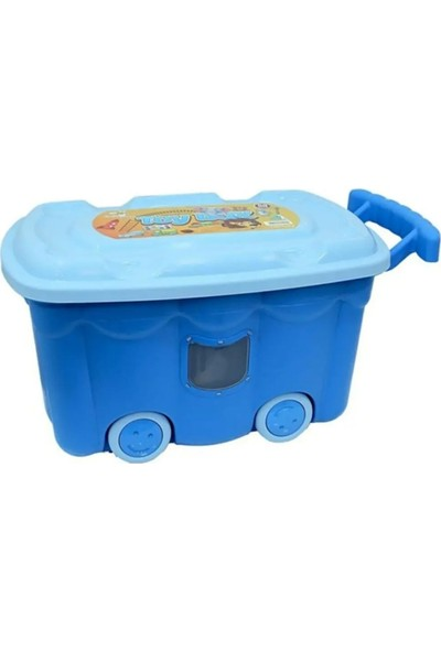 Bee Home Mavi Tekerlekli Oyuncak Kutusu 50 lt