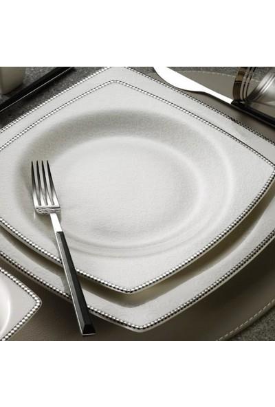 Kütahya Porselen Bone Mare 62 Parça 1074420 Yemek Takımı Platin