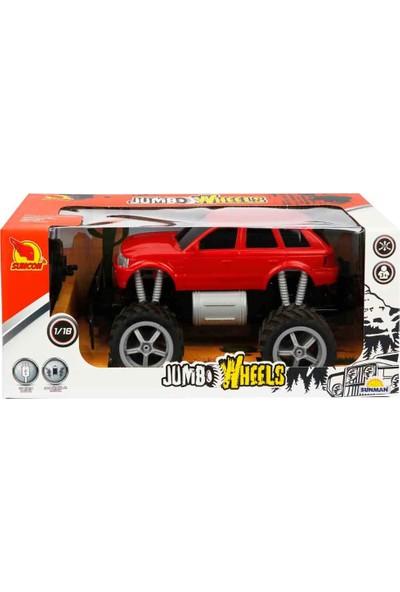 Suncon 1:18 Uzaktan Kumandalı Jumbo Wheels USB Şarjlı Araba 26 cm - Kırmızı