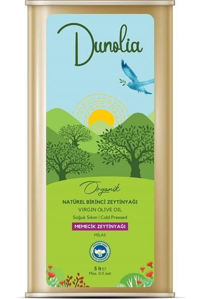 Dunolia Organik Natürel Birinci Zeytinyağı 5 lt Soğuk Sıkım