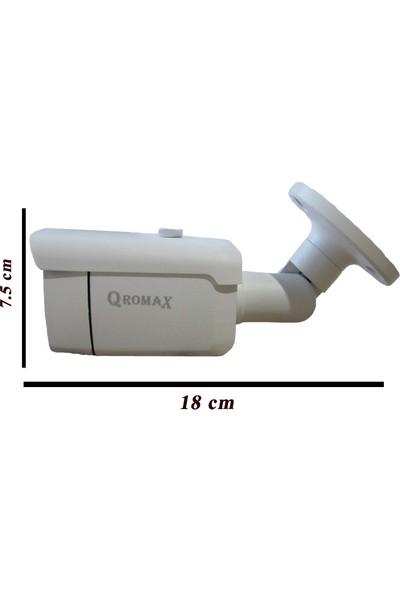 Qromax Pro 6224 1' Li 5 Megapiksel Sony Lens 1080P Aptina Sensör Metal Kasa Güvenlik Kamerası Seti