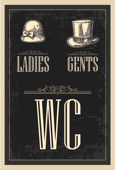 Hayat Poster Wc Tuvalet Retro Vintage Ahşap Poster