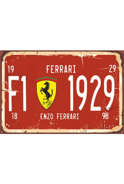 Hayat Poster Formula 1 Tabela Tarz Retro Vintage Ahşap Poster