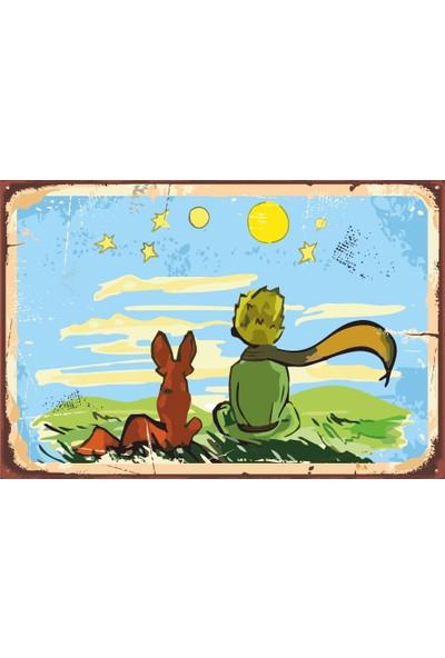 Hayat Poster Küçük Prens Retro Vintage Ahşap Poster