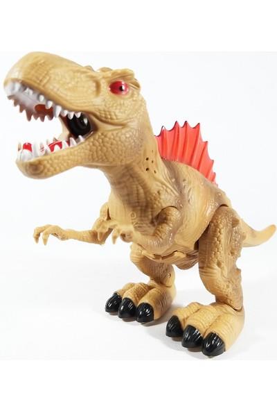 Birlik Oyuncak Yürüyen Sesli Işıklı Ağzından Buhar Çıkartan Dinozor 30 cm