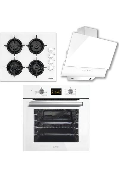 Luxell Dijital Set Beyaz (A6 SF2DDT Fırın 40TAHDF Ocak DA-835 )