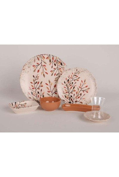 Keramika 19 Parça Kahvaltı Takımı Pastel Tasarım