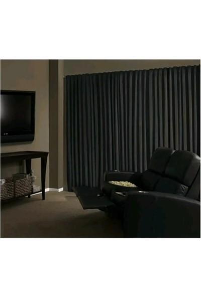 Evdepo Home Hazır Karartma Blackout Pilesiz Fon Perde Koyu Gri 50 x 240 cm
