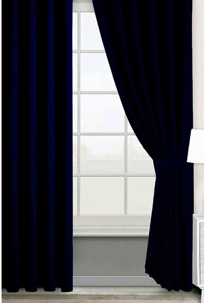Evdepo Home Hazır Karartma Blackout Pilesiz Fon Perde Lacivert 50 x 240 cm
