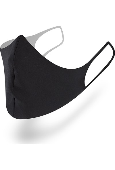 Mutlu Maske Muhteşem 3'lü Dark Siyah Gri Desenli Yıkanabilir Kumaş Maske Unisex
