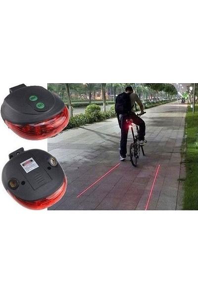 Tvet 7 Fonksiyonlu Bisiklet Lambası Lazeri Arka Far Stop LED Lamba T38908