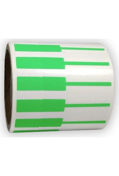 On Roll Paper Kuyumcu Etiketi 72 x 10 Yeşil 1000'lik Sarım 6 Rulo