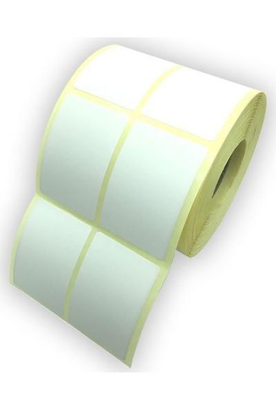 On Roll Paper Kuşe Barkod Etiketi 40 x 60 2'li 1500'lü 12 Rulo
