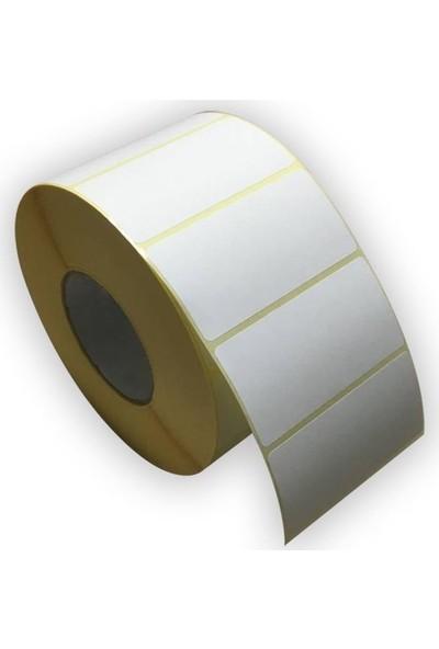 On Roll Paper Kuşe Barkod Etiketi 100 x 50 750'lik 12 Rulo