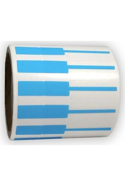 On Roll Paper Gözlük Etiketi Mavi 95 x 12 1000'lik Sarım 6 Rulo