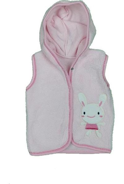 Elif Bebe Kız-Erkek Bebek Tavşan Modelli Kapşonlu Yelek
