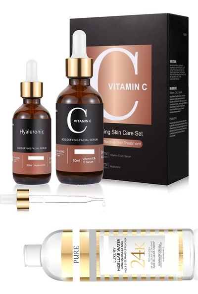 Pure Vitamin C + Hyaluronic Acid + Kolejen Tonik