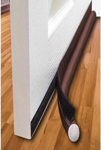 Ankaflex Lüks Kapı Altı Rüzgar Önleyici Sünger Rüzgarlık 90 Cm Uzunluk Kahverengi