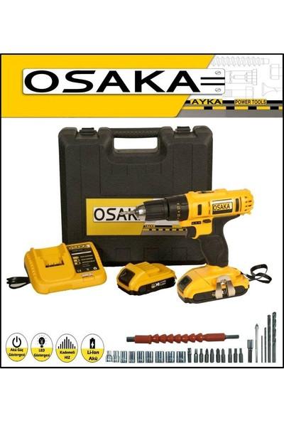 Osaka Ayka 32 Volt 5.0 Amper Darbeli Çift Akülü 27 Parça Uç Setli Şarjlı Vidalama Matkap