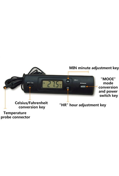 Weather Forecast İç Dış Mekan Problu Dijital Termometre Sıcaklık Ölçer Thr337