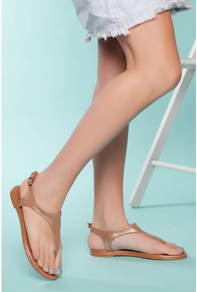 Muggo SNDLT02 Kadın Parmak Arası Sandalet