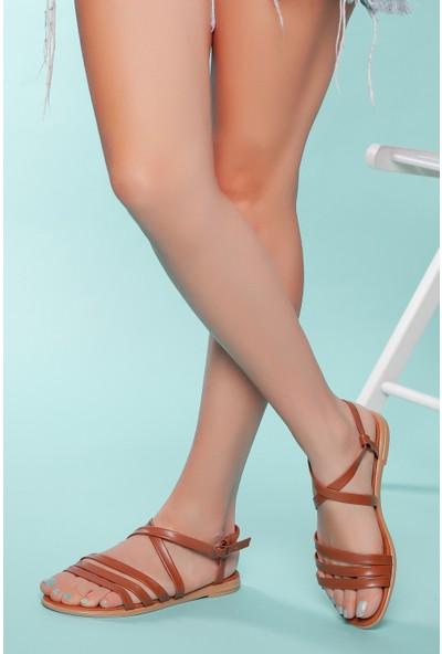 Muggo SNDLT05 Kadın Bantlı Sandalet