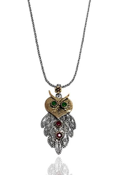 Midyat Gümüş Dünyası Baykuş Telkari Kolye