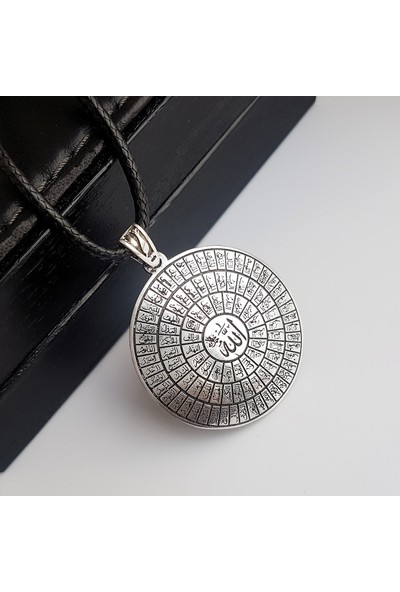 Gümüş Pazarım Esma Ül Hüsna ( Allah′ın 99 Ismi ) Gümüş Erkek Kolyesi