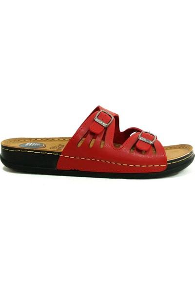 Muya 98254 Anatomik Kadın Topuk Dikeni Pedli Terlik Kırmızı