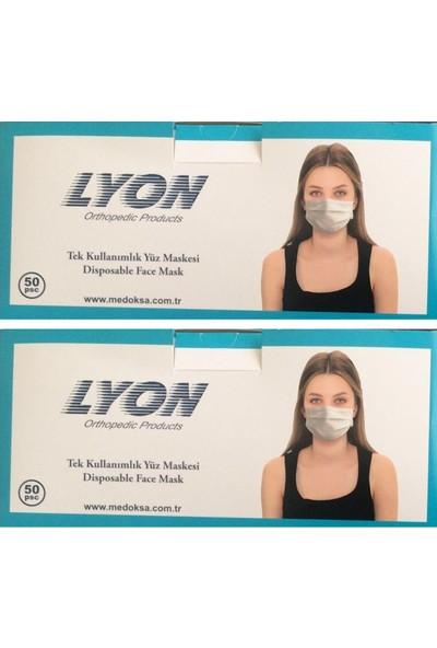 Lyon Full Ultrasonic Telli Cerrahi Maske 50'li 2 Adet