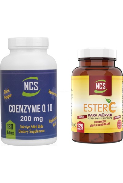 Ncs Coenzyme Q10 200 mg 180 Tablet Ester C 1000 mg 120 Tablet