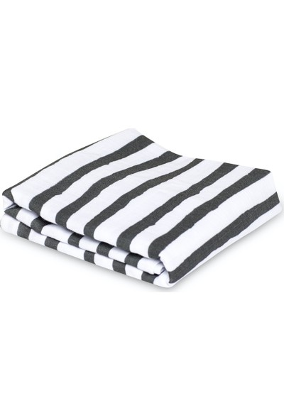 Zuppers Müslin Örtü - 90 x 120 cm - Siyah Beyaz