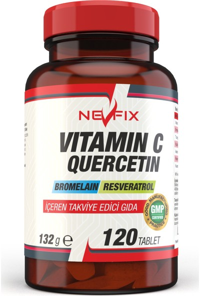 Nevfix Coenzyme Q10 200 mg 120 Tablet Vitamin C Bromelian 120 Tablet