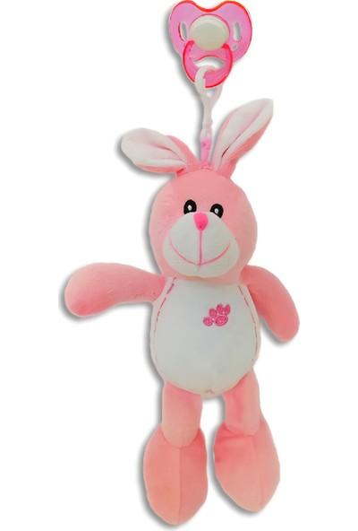 Play Sevimli Tavşancık Emzikli Peluş Uyku Arkadaşım - Çıkarılabilir Emzik Klipsli
