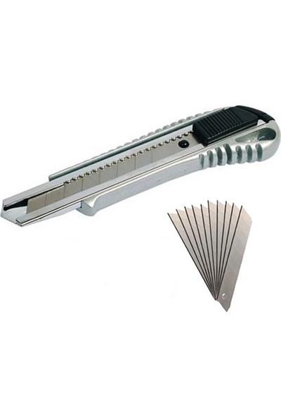 BKS Tools Metal Maket Bıçağı ve Yedeği 10 Adet Bks Tools