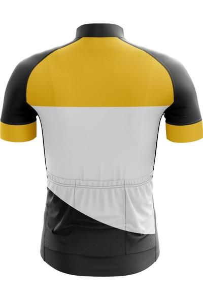 Freysport Talon Bisiklet Forması - Kısa Kollu Siyah - Sarı