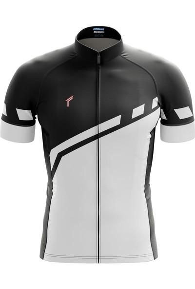 Freysport Lane Bisiklet Forması - Kısa Kollu Siyah - Beyaz