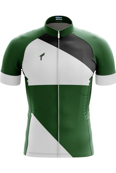 Freysport Talon Bisiklet Forması - Kısa Kollu Yeşil - Beyaz