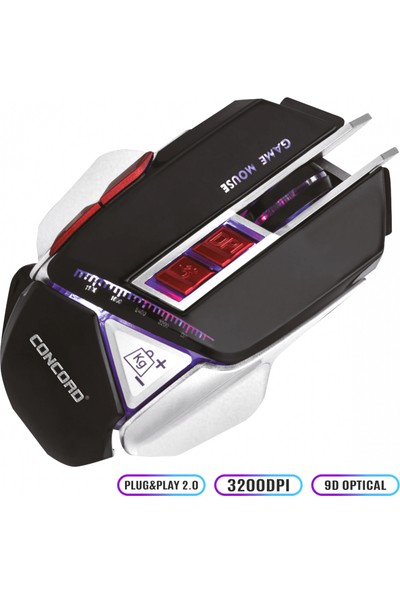 Concord C-12 Kablolu 9D High Gaming Mouse