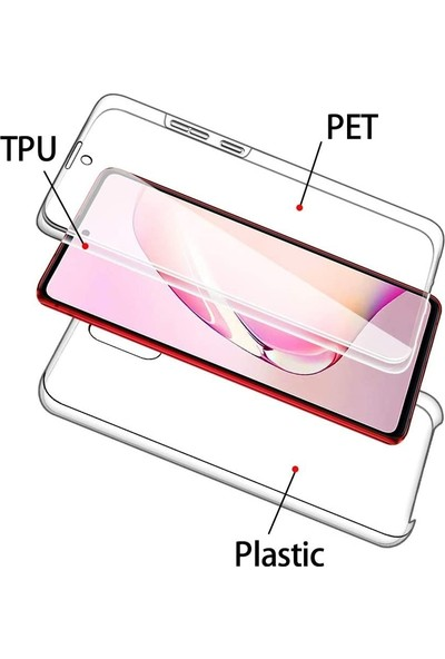 Case Street Samsung Galaxy Note 10 Lite Kılıf Ön Arka Şeffaf Silikon Koruma Renksiz