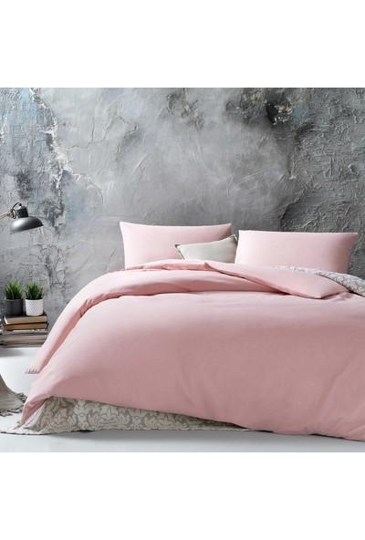 Yataş Bedding ALEGRA Ranforce Nevresim Takımı (Çift Kişilik XL) - Pudra