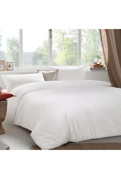 Yataş Bedding Raso Saten Nevresim Takımı (Çift Kişilik) - Ekru