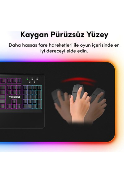 Tronsmart Spire RGB Gaming Oyuncu Mousepad