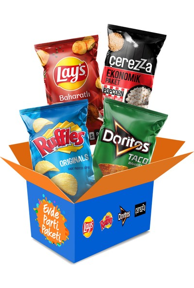 Ruffles Doritos Lay's Çerezza Evde Parti Paketi