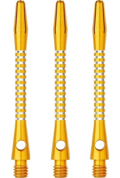 Winmau Anodised Aluminium Re-Grooved Type B Dart Shaft Sarı- Medium